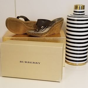 Authentic Burberry wedge sandals....comes with box